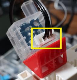 センサーコードと赤外線フォトリフレクタとの接続